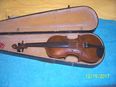 Vintage Early 1900's Jacobus Stainer 4/4 violin  G. condition w/ case Germany