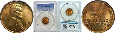 1923 1C Lincoln Wheat Cent PCGS MS65RB (Red/Brown)
