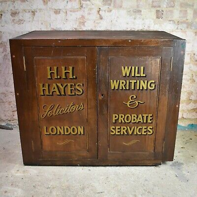 Antique Solicitor Lawyer London Mahogany Storage Cupboard Cabinet Filing