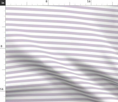Baby Lavender Horizontal Stripes Baby Nursery Fabric Printed by Spoonflower BTY