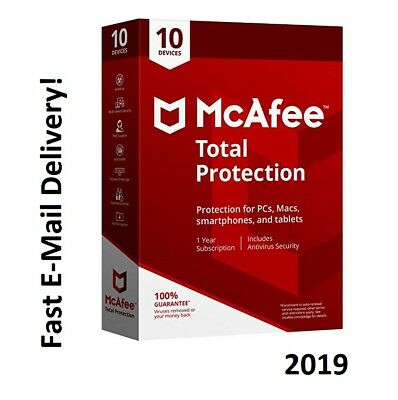 McAfee Total Protection 2019 10 Devices 1 Year KEY Instant eBay Message