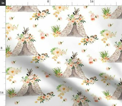 Baby Girl Boho Baby Girl Baby Girl Woodland Fabric Printed by Spoonflower BTY