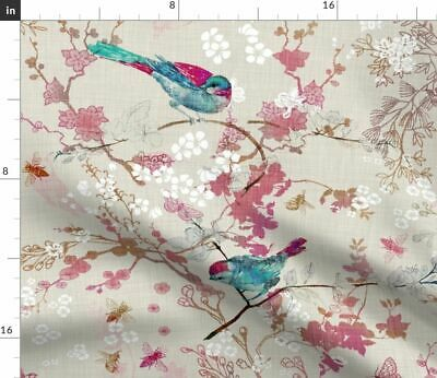 Bees Home Decor Rustic Wildlife Bird Bee Fabric Printed by Spoonflower BTY