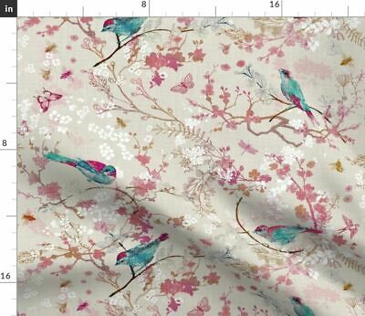 Chinoiserie Floral Botanical Traditional Fabric Printed by Spoonflower BTY