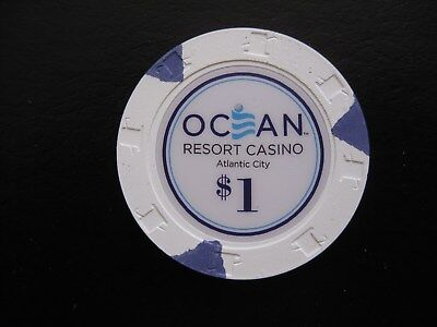 NEW $1 Chip Ocean Resort Casino Atlantic City Chip Blackjack Poker Craps NJ
