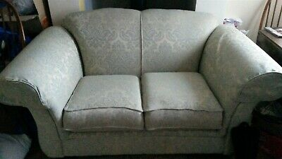 Terrific Kirkdale Two Seater Sofa Used Comfy Condition Pale Green Onthecornerstone Fun Painted Chair Ideas Images Onthecornerstoneorg