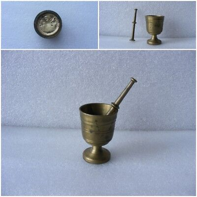 Vintage Brass Small Mortar and Pestle