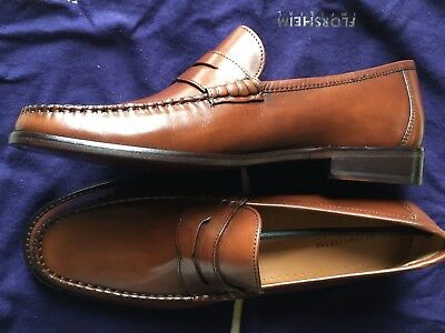 7aebe0f8450 Florsheim Brookfield Peny Leather Cognac Smooth Shoes 12109-221 (Sz 8.5) -  NEW