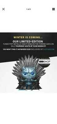 METALLIC NIGHT KING ON THRONE  Funko Pop Game Of Thrones HBO Exclusive Pre-Order