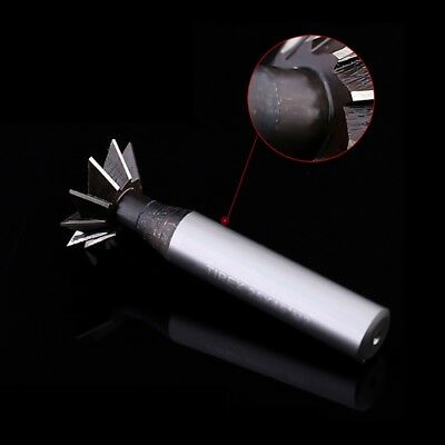 6mm x 60° Degree 6 Flutes High Speed Steel Dovetail Cutter End Mill Bit Router