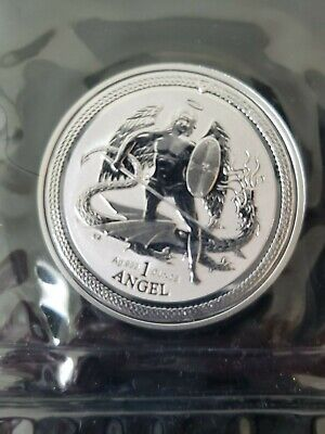 Silver 2016 Isle of Man Angel 1 troy ounce coin Reverse Proof Original Plastic