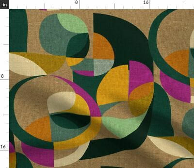 Abstract Circles Retro Inspired Modern Circles Fabric Printed by Spoonflower BTY