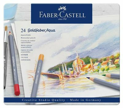 Faber Castell 24 Goldfaber Aqua Watercolour Pencil Tin FC114624 Save Over 30%
