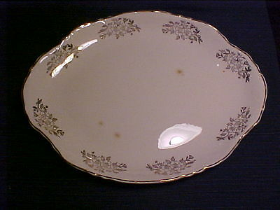 "Vintage Collectible Homer Laughlin China""Woodland Gold""Large Serving Platter"