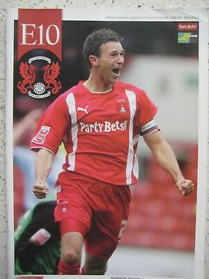 Leyton Orient v Tranmere Rovers - League 1 - 18 October 2008 - with teamsheet