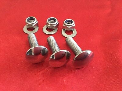 M8x30mm Bumper Bolts Polished Stainless Steel. Classic Car. PORSCHE VW Ford