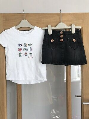 Next Girls Outfit Age 5 Years Top & Skirt