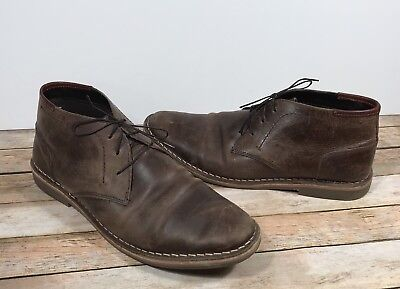 013381a6e8d STEVE MADDEN DISTRESSED Brown Leather Ankle Boots Men's Size 9M ...
