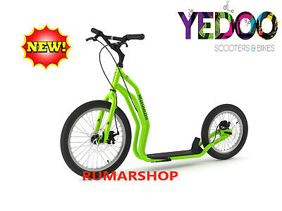 2019 model TOP AANBIEDING YEDOO SCOOTER ROLLER STEP nieuw MEZEQ DISC green