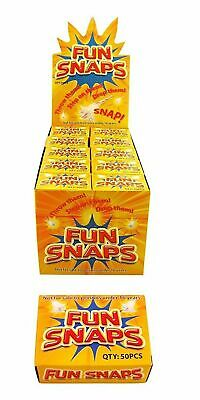 Fun Snaps Throw Bangers - Various Pack Sizes - Party Bag Fillers old school fun