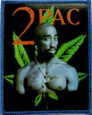 TUPAC 2PAC Patch Toppa Leaf OFFICIAL MERCHANDISE