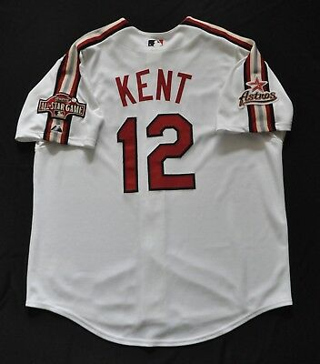 7c8386f2 JEFF KENT 2004 MLB All-Star MAJESTIC Authentic Jersey White Houston Astros  XL
