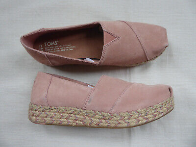 6da90f50260 Toms Alpargata Espadrille Pink Suede Jute Braided Trim Loafers Woman s Size  8.5