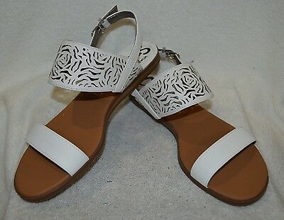 82c5386d4 CIRCUS BY SAM Edelman black leather flat classic sandals size 6.5 ...