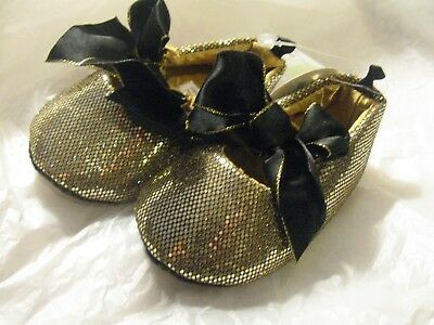 7c712a64c0dd CUTE INFANT GIRLS Limited Too Gold Glitter Crib Shoes Size 3 (6-9 ...