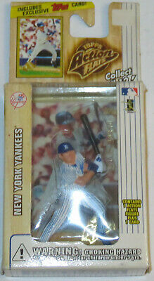 1999 Derek Jeter NY Yankees MLB Topps Action Flats Action Figure & Card Sealed