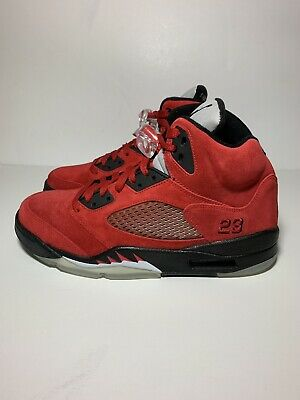 9cca7d3b3e493d Nike Air Jordan 5 DMP Raging Bull Red Suede Size 9 BRAND NEW WITH BOX 360968