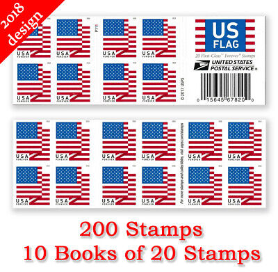 USPS FIRST-CLASS FOREVER Stamps 5 Books 100 Stamps Value $55
