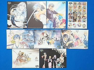 Not for sale SAMURAI DEEPER KYO 8 postcards + 1 sticker set Japan Anime/1075