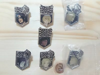 RARE Attack on Titan Levi other Pins 7 pieces set Japan Anime/1060