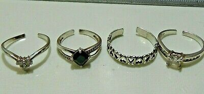 4x Vintage Sterling Silver Rings - Lot