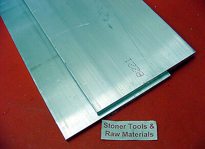 "6 Pieces 3/4"" X 8"" ALUMINUM 6061 FLAT BAR 13.75"" long T6511 Mill Stock"