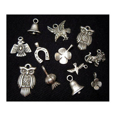 Interesting  Lot Of 12 Metal Pendants , Broad Variety!!!