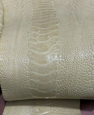 Ostrich Legs Skin Leather Yellow Color G.A /%100 Genuine Ostrich Leather