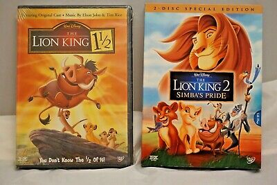 New Walt Disney The Lion King 2 Simbas Pride and The Lion King 1 1/2 sealed