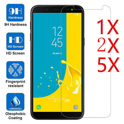 5X Tempered Glass Screen Protective For Samsung Galaxy J4 J6 J8 A6 A8 Plus 2018