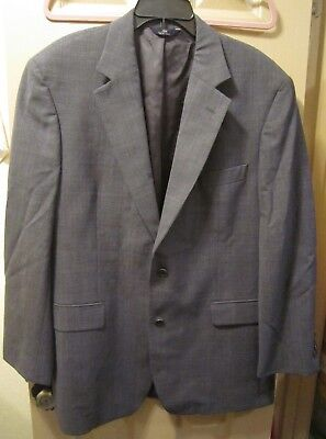 Sz 43R Brooks Brothers 346 Stretch Mens Gray Plaid Suit Jacket Blazer, Guc