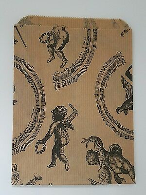 """Paper gift bags Vintage Cherub patterned small size 5""""x7"""" 100 pieces shops,craft"""