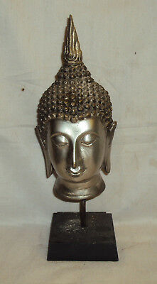 Antique Traditional Asian Brass Buddha Head Rare Collectible #2
