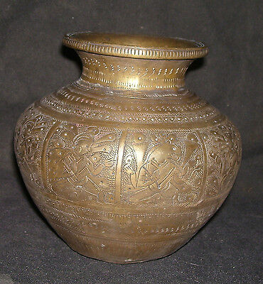 "Antique Traditional Indian Ritual Bronze ""Bowl (Kalasha)""  (Collectible):"