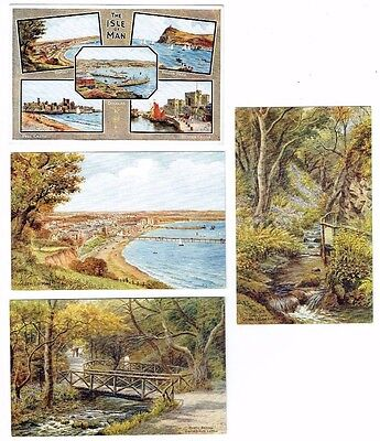 Old A R Quinton Postcards The Isle Of Man Salmon Series Vintage 1940S-50S (672)