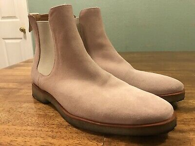 ebc4186d861 MARK MCNAIRY NEW Republic Men Tan Suede Leather Chelsea Boots Shoes ...