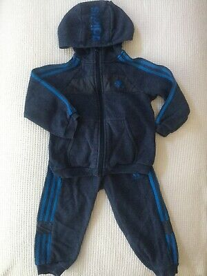 Adidas Baby Boys Tracksuit 12-18 Months Joggers, Hoodie Combined Postage