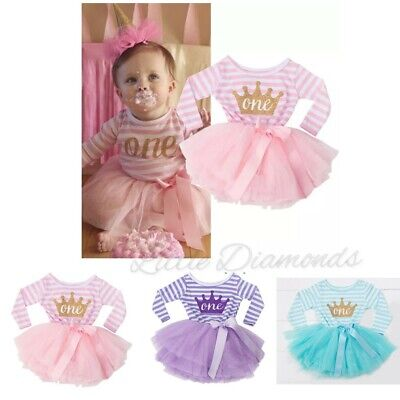Baby girl first 1st birthday party dress outfit skirt tutu Little Diamonds UK