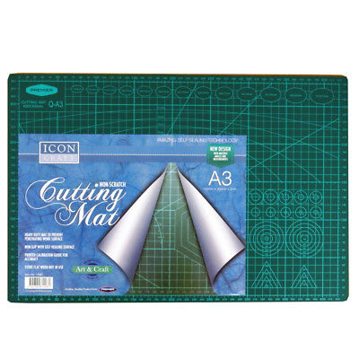 A3+ Large Heavy Duty Craft Cutting Mat, with Measurements and Angles, by Icon