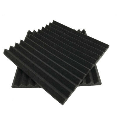 6 Pack Acoustic Foam Wedge 12 X 12 X 12 inch Studio Soundproofing Panels P8S1